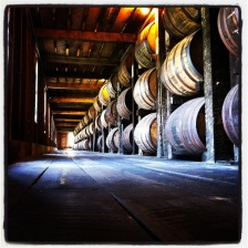 Barrels, thousands of barrels...filled with bourbon.