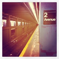 Empty New York City subway.