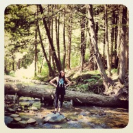 First trip to Vermont...and I chose to stand on a rock in the middle of a stream.