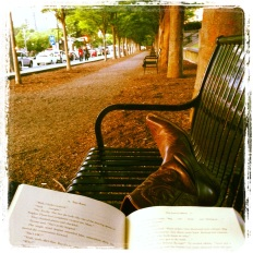Reading spot in downtown Princeton.