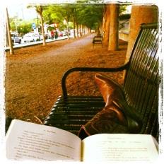Reading spot in downtown Princeton.