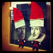 Our office was invaded by the playwright elves this year...